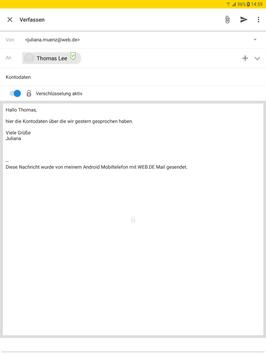 WEB.DE Mail screenshot 10