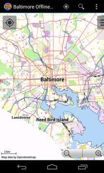 Baltimore Offline City Map poster