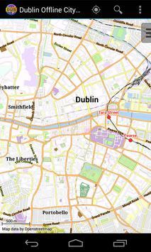 Dublin Offline City Map poster