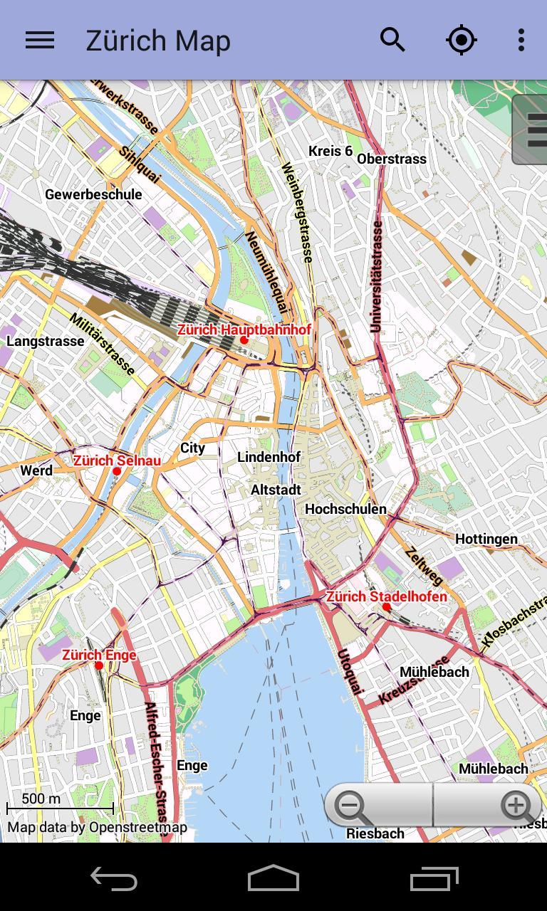 Cartina Zurigo.Mappa Di Zurigo Offline For Android Apk Download