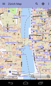 Zurich Offline City Map Lite screenshot 1