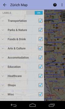 Zurich Offline City Map Lite screenshot 2