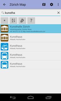 Zurich Offline City Map Lite screenshot 3