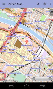 Zurich Offline City Map Lite screenshot 4