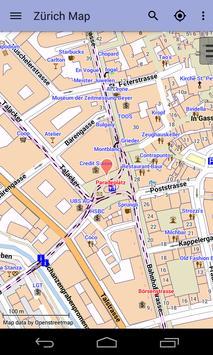 Zurich Offline City Map Lite screenshot 7