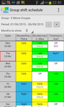 My shift schedule - team TRIAL screenshot 1