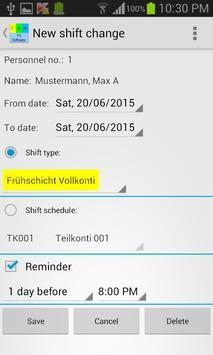 My shift schedule - team TRIAL screenshot 6