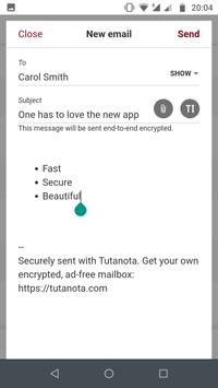 Tutanota screenshot 1