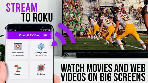 Video & TV Cast | Roku Remote & Movie Stream App 海报