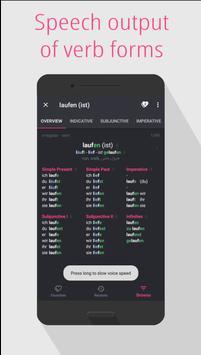 German Verbs: conjugation, translation, dictionary screenshot 5