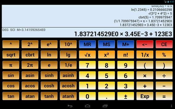 Scientific Calculator 3 स्क्रीनशॉट 8