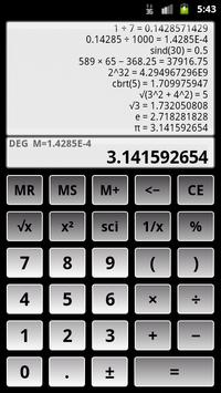 Scientific Calculator 3 स्क्रीनशॉट 1