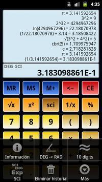 Calculadora científica 3 captura de pantalla 4