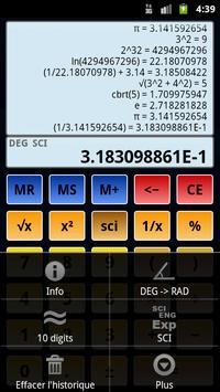 Calculatrice scientifique 3 capture d'écran 4