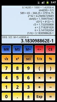 Calculatrice scientifique 3 capture d'écran 6
