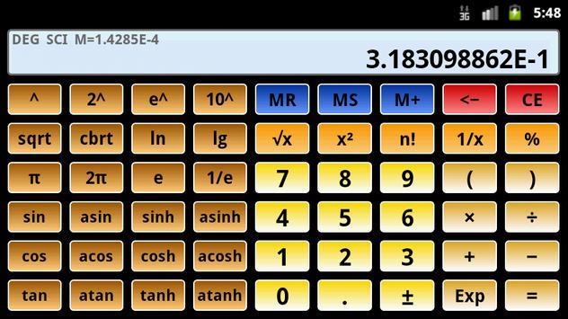 Calculatrice scientifique 3 capture d'écran 7