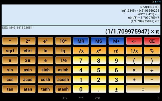 Calculatrice scientifique 3 capture d'écran 8
