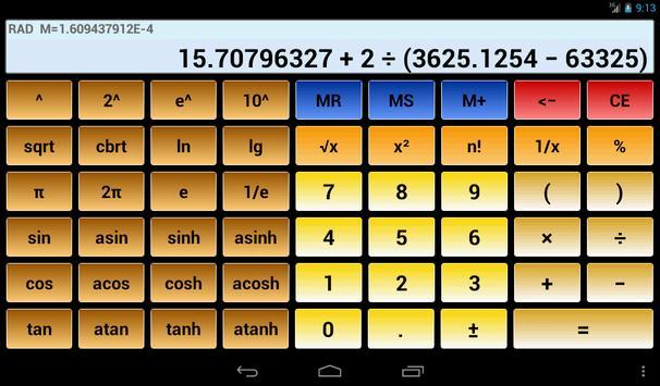 9 Schermata Calcolatrice scientifica 3