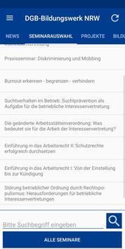 DGB-Bildungswerk NRW Seminare screenshot 3