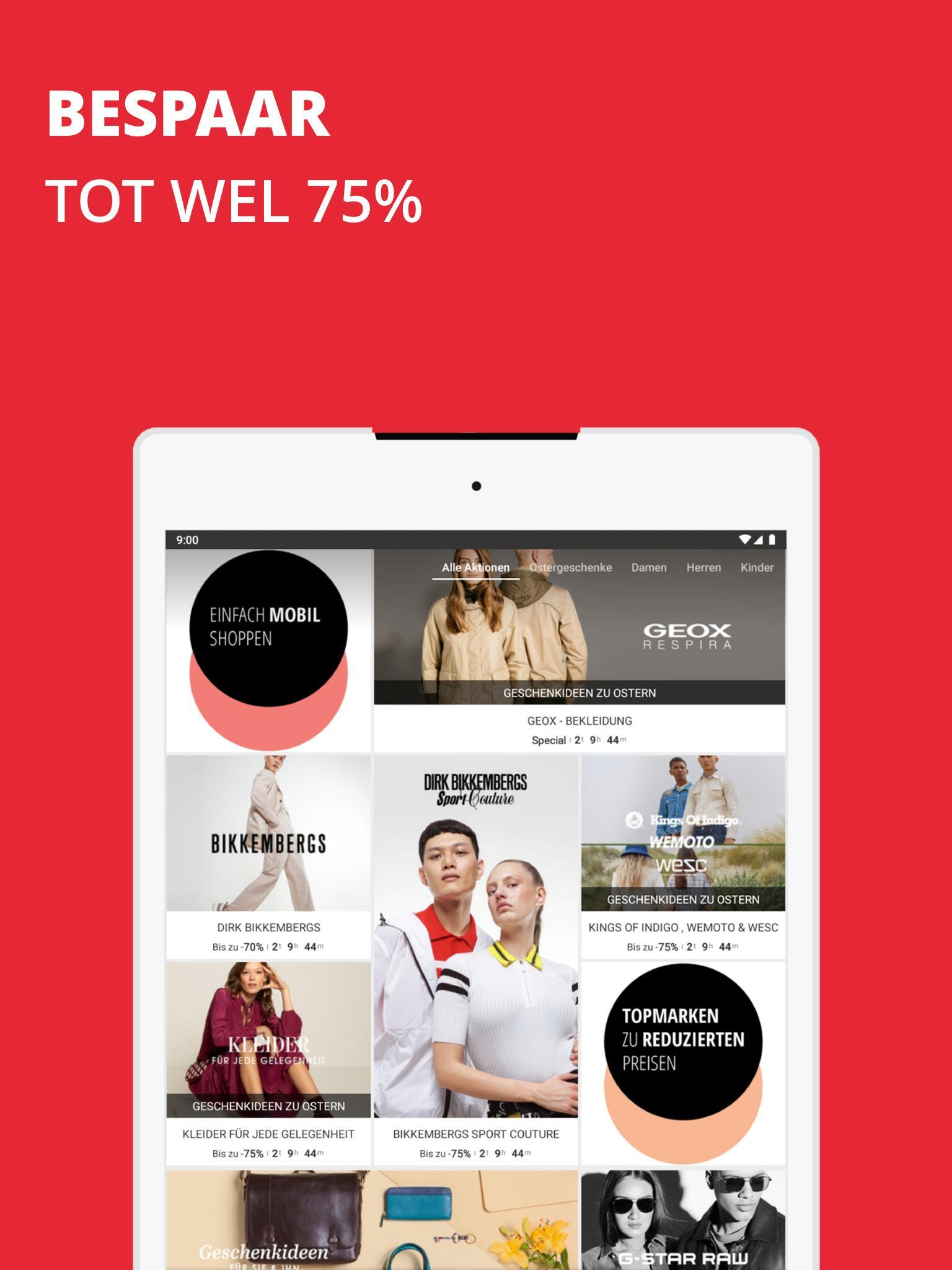 997fb6fe552 Zalando Lounge: fashion en lifestyle shopping club for Android - APK ...