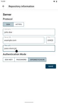 1 Schermata Password Store