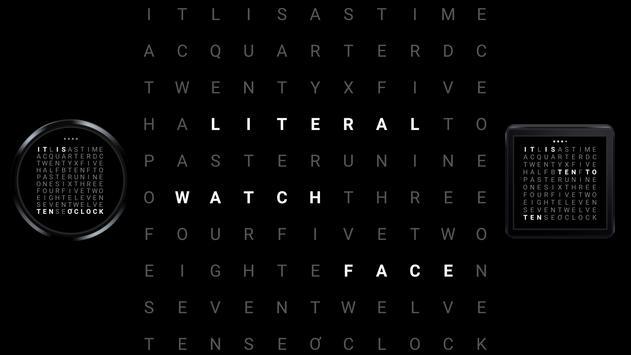 Literal WatchFace poster