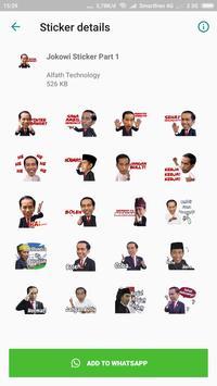 Sticker Jokowi for WAStickerApps screenshot 1