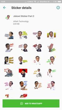 Sticker Jokowi for WAStickerApps screenshot 4
