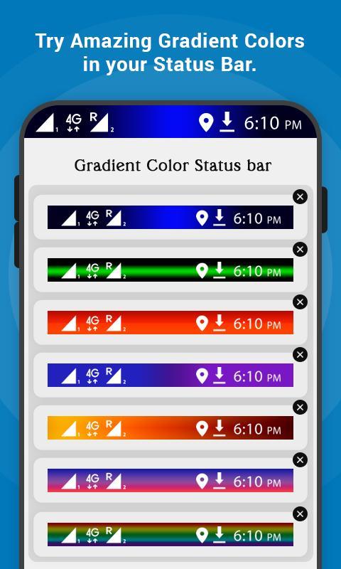 change status bar color apk