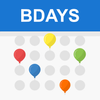 Verjaardagskalender en herinnering-icoon