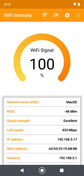 WiFi signal strength meter-poster