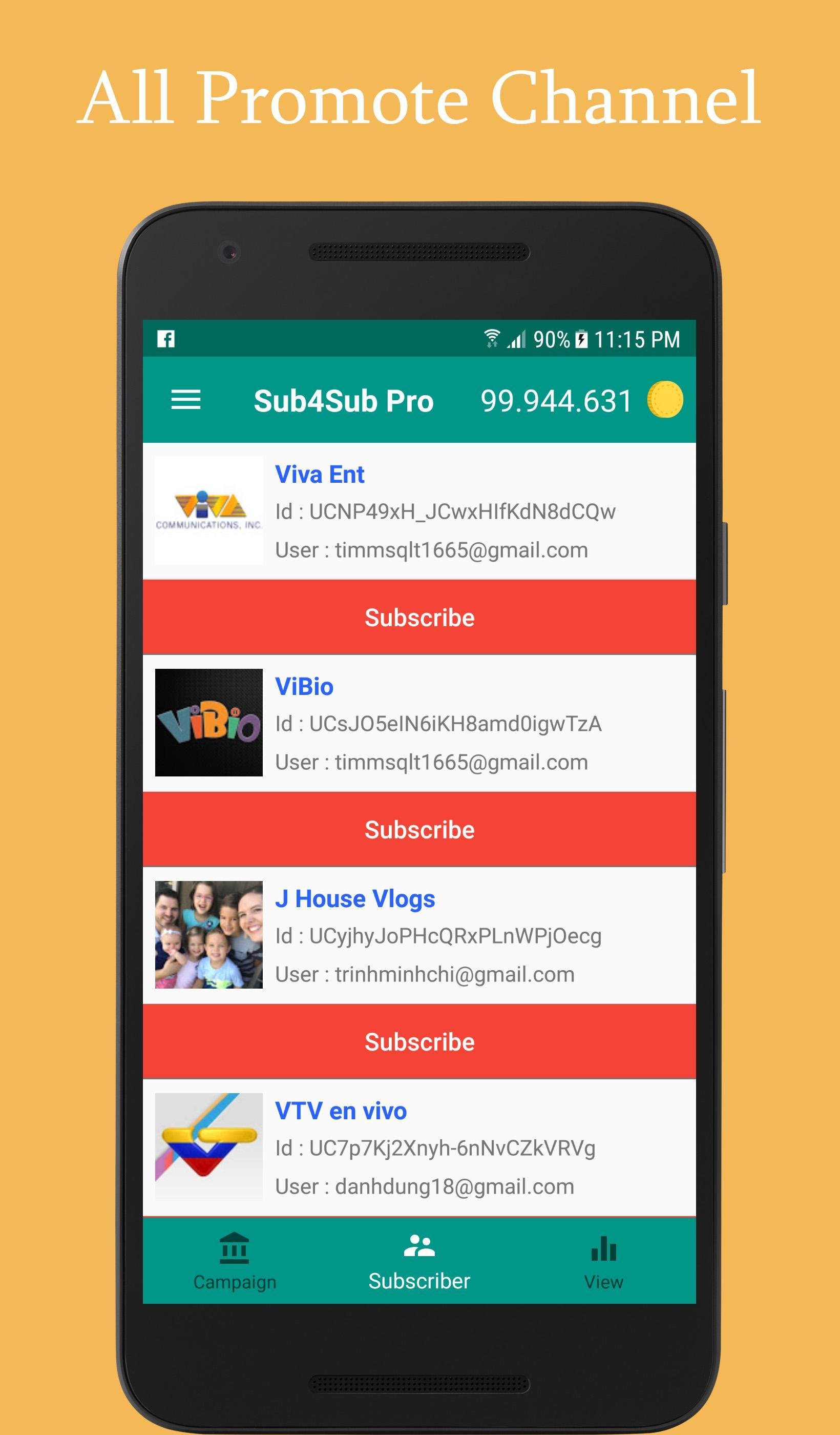 Sub4Sub Pro - No Ads for Android - APK Download