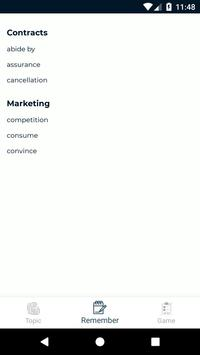 Toeic FlashCard Vocabulary screenshot 3