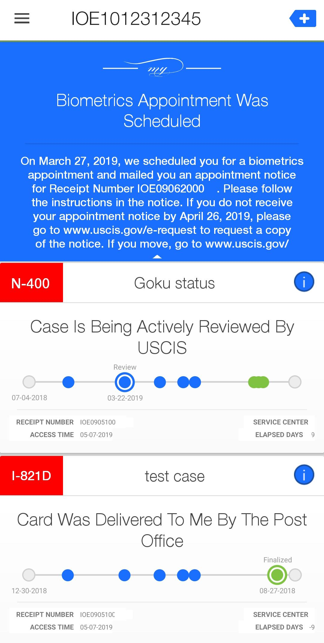My USCIS Utility - A Better Case Tracker App for Android