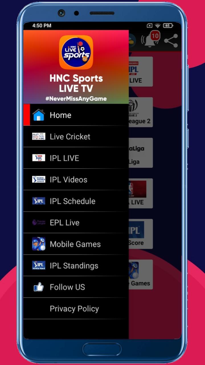 HNC Sports Live TV APK 3