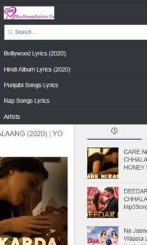 Mp3SongsLyrics Hindi Songs Lyrics - APK Download screenshot 2