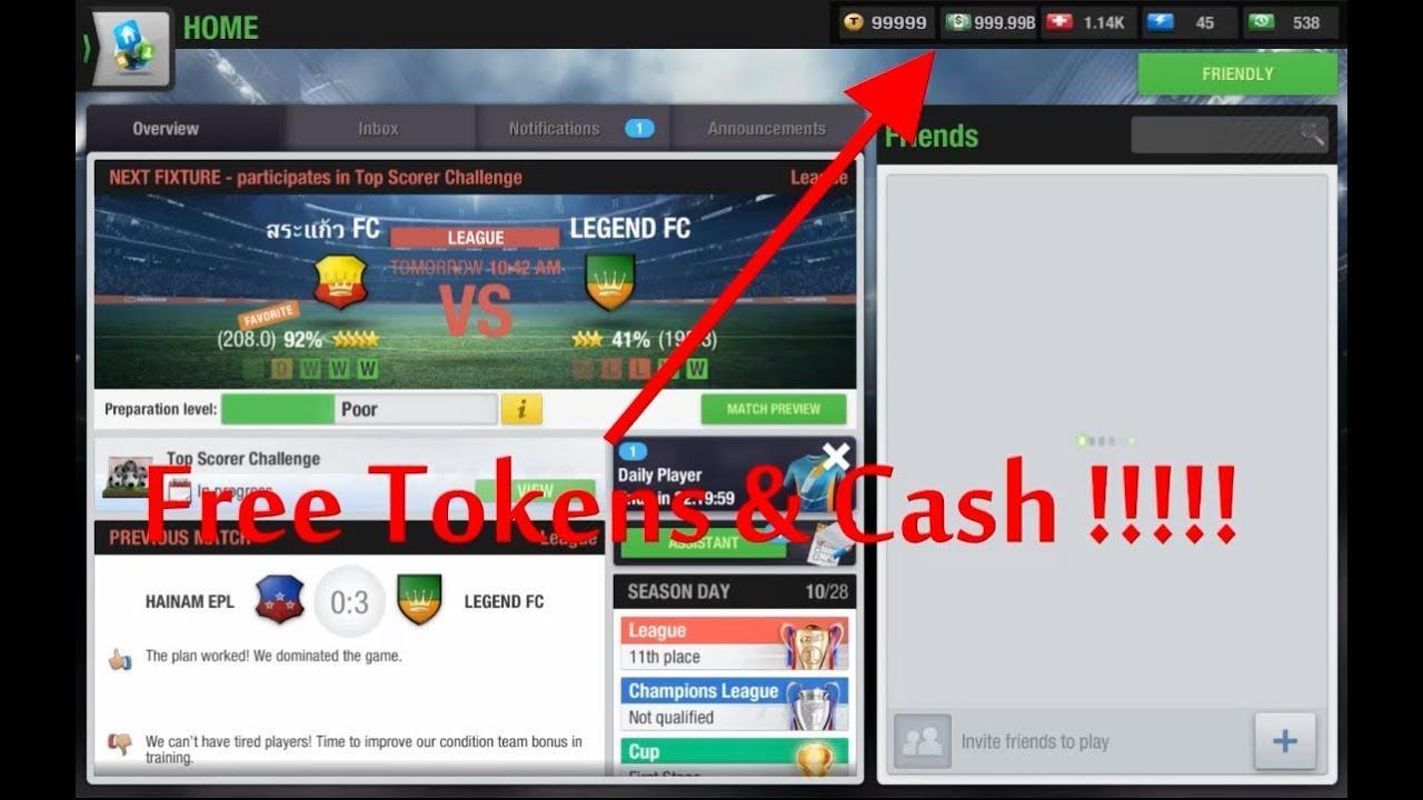 top eleven hack tokens free online