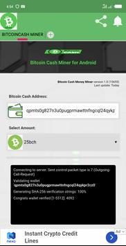 BITCOINCASH MINER screenshot 1