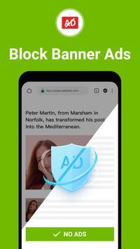 Free Adblocker Browser - Adblock & Popup Blocker Screenshot 1