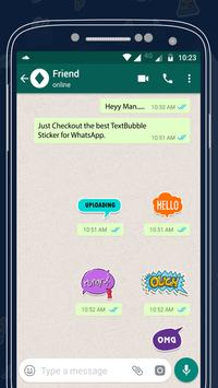 Text Bubble Sticker For Whatsapp poster