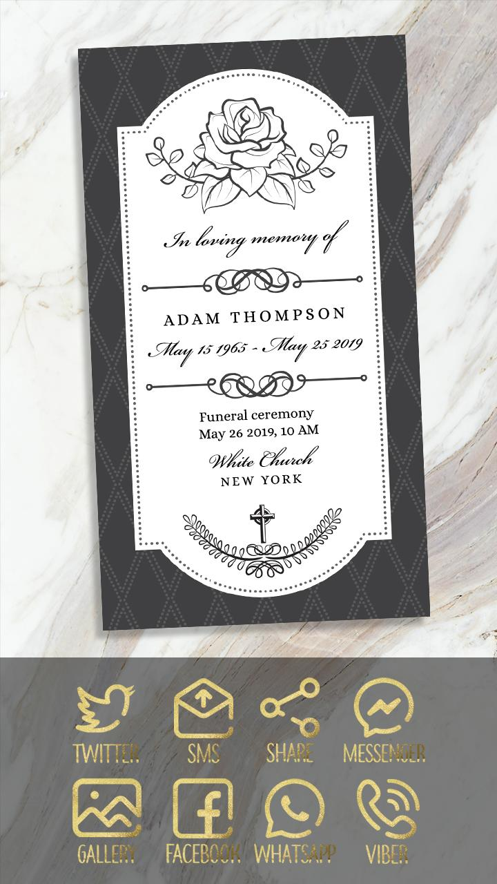 Death Invitation Card Maker For Android Apk Download