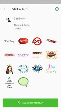 Everyday WhatsApp Stickers Collection screenshot 7