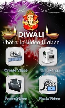 Diwali Photo Video Maker poster