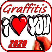 Draw graffiti from scratch icon