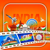 15 August Video Status Maker icon