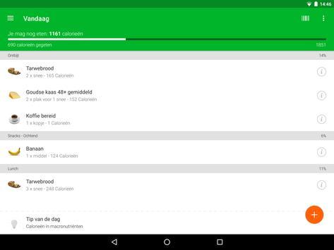 Calorieënteller en track jouw voeding screenshot 7