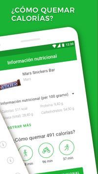 Contador de calorías captura de pantalla 1