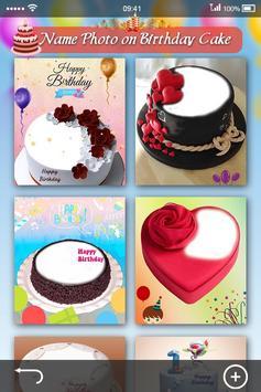 Name Photo on Birthday Cake screenshot 1