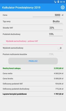 Kalkulator Przedsiębiorcy 2019 screenshot 1