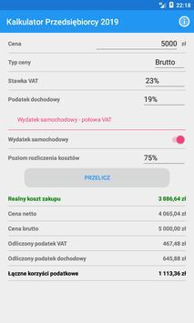 Kalkulator Przedsiębiorcy 2019 screenshot 2